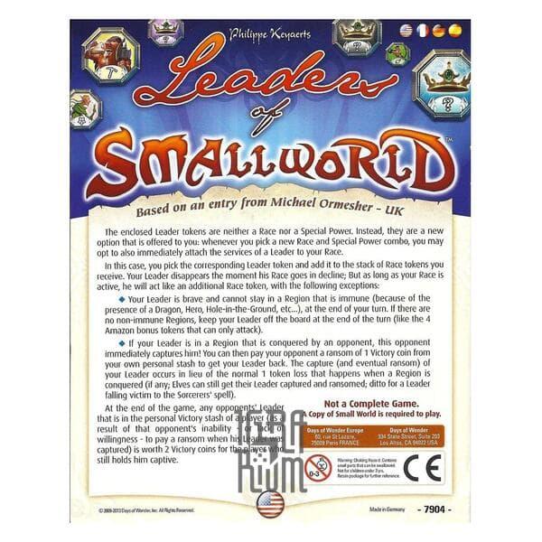 Настольная игра Small World: Leaders of Small World - дополнение