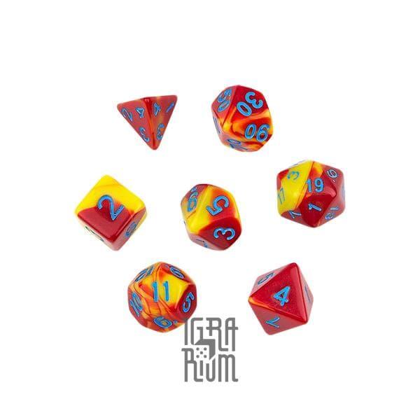 Набор кубиков: MIX красно-жёлтые G94