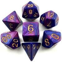 Набор кубиков для RPG, двухцветный - цвет в ассортименте, 7шт (d4, d6, d8, d10, d12, d20, d100)