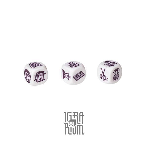Настольная игра Кубики Историй Рори: Ужастики (Rorys Story Cubes: Fright). Дополнение, 3 кубика