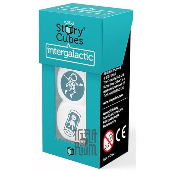 Настольная игра Кубики Историй Рори: Космос (Rorys Story Cubes: Intergalactic). Дополнение, 3 кубика