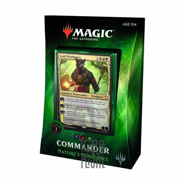 Настольная игра Natures Vengeance - Commander 2018 - Колода Magic The Gathering (Англ)